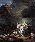 Anicet-Charles-Gabriel Lemonnier Niobe and her children killed by Apollo et Artemis oil