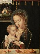 Anonymous Madonna and Child Nursing oil