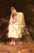 Benjamin Constant Contemplation oil painting