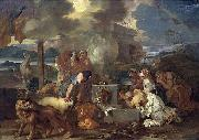 Bourdon, Sebastien Sacrifice of Noah oil painting reproduction