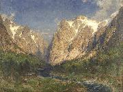 Carl jun. Oesterley Im Tal der Ramaels oil painting