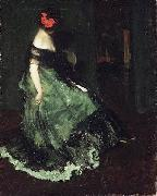 Charles Webster Hawthorne Red Bow oil