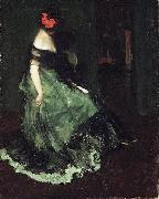 Charles Webster Hawthorne The Red Bow oil