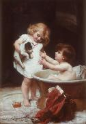 Frederick Morgan His turn next oil painting artist