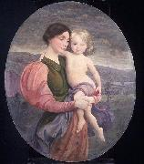 George de Forest Brush Mother and Child: A Modern Madonna oil painting artist