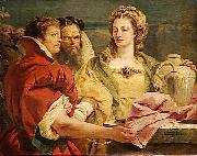 Giovanni Domenico Tiepolo Rebecca at the Well oil painting artist