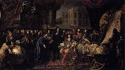 Henri Testelin Colbert Presenting the Members of the Royal Academy of Sciences to Louis XIV in 1667 oil painting artist