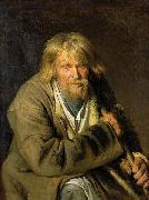 Ivan Nikolaevich Kramskoi Old Man with a Crutch oil painting