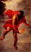 Jan Cossiers Prometheus Carrying Fire oil painting on canvas