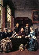 Jan Josef Horemans the Elder Marriage Contract oil painting on canvas