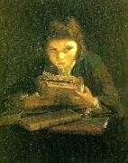 Sir Joshua Reynolds boy reading Germany oil painting reproduction
