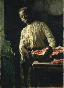 Thomas Hovenden I Know d It Was Ripe oil painting artist