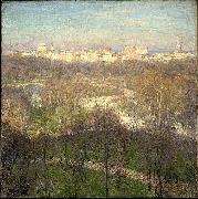 Willard Leroy Metcalf Early Spring Afternoon Central Park oil painting reproduction