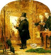 William Parrott turner on varnishing day at the royal oil painting artist