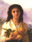 Adolphe Bouguereau Girl Holding Lemons oil painting