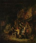 Adriaen van ostade Peasant family at home oil