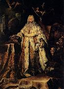 Adrian Ludwig Richter last Medici Grand Duke of Tuscany oil