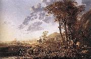 Aelbert Cuyp Evening Landscape with Horsemen and Shepherds oil