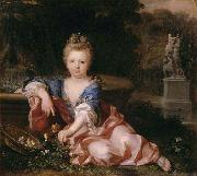 Alexis Simon Belle Portrait of Mariana Victoria of Spain fiancee of Louis XV oil painting
