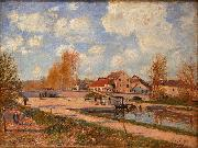 Alfred Sisley The Bourgogne Lock at Moret, Spring oil painting reproduction