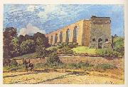 Alfred Sisley L'Aqueduc de Marly oil painting reproduction