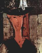 Amedeo Modigliani Dame mit Hut oil painting reproduction