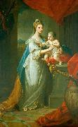 Angelica Kauffmann Portrait of Augusta of Hanover with her first born son Karl Georg of Brunswick oil