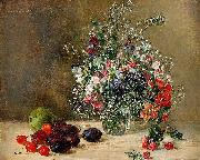 Anna Munthe-Norstedt Still Life with Flowers and Fruits oil painting