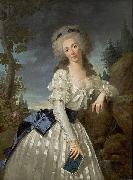 Antoine Vestier Portrait of a Lady with a Book oil painting