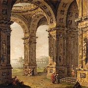 Antonio Joli Architectural Capriccio oil painting