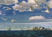 Arkady Rylov In the Blue Expanse oil painting