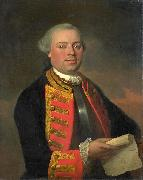August Christian Hauck Portret van Johan Arnold Zoutman oil painting