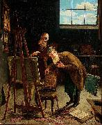 August Jernberg Interior from a Studio oil painting