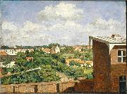 August Jernberg View from Dusseldorf oil painting
