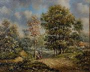 Barend Cornelis Koekkoek Walk in the woods oil painting artist