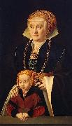 Barthel Bruyn Portrait of a Lady with her daughter oil