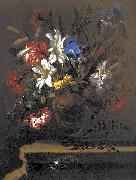 Bartolome Perez Vase of Flowers. oil painting
