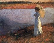 Bela Ivanyi-Grunwald Woman by the Water oil