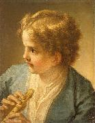 Benedetto Luti Boy with the flute by tuscan painter Benedetto Luti oil painting