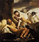 CAMPEN, Jacob van Argus, Mercury and Io oil