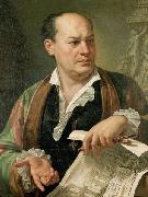 Carlo Labruzzi Posthumous portrait of Giovanni Battista Piranesi oil