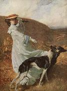 Charles Wellington Furse Diana of the uplands oil painting