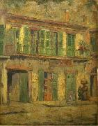 David Maitland Armstrong Toulouse Street, French Quarter oil