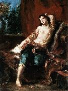 Eugene Delacroix Odalisque oil painting reproduction