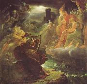 Francois Pascal Simon Gerard Ossian on the Bank of the Lora Invoking the Gods to the Strains of a Harp oil
