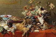 Frans Snyders Squirrel and Cat oil
