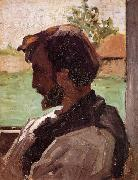 Frederic Bazille Self Portrait at Saint-Sauveur oil