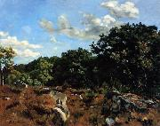 Frederic Bazille Landscape at Chailly oil