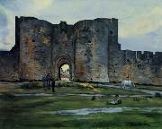 Frederic Bazille Queens Gate at Aigues-Mortes oil
