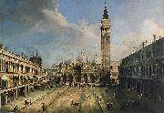 Giovanni Antonio Canal The Piazza San Marco in Venice oil